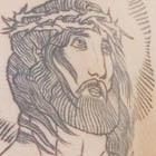 Linework Jesus Tattoo