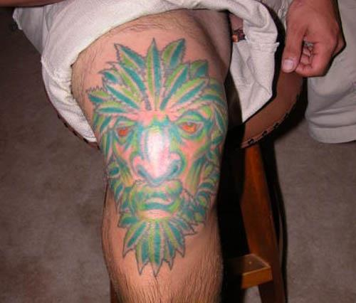 marijuana man tattoo Youd Have to Be High To Get These Tattoos