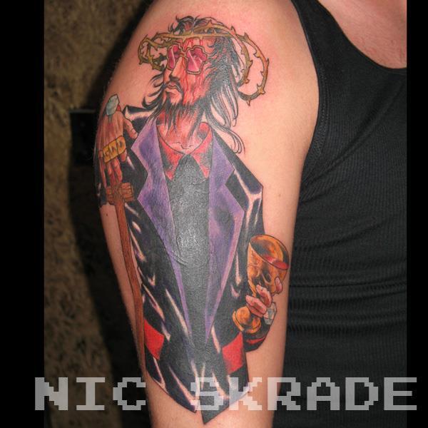 pimp jesus tatuagem OMG!  Tatuagens WTF Jesus