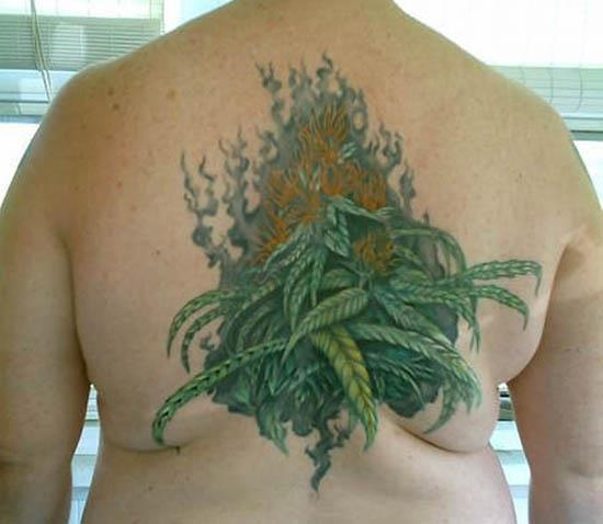 smoking weed backpiece Youd Have to Be High To Get These Tattoos