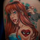 Spiderman Mary Jane Tattoo