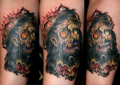 zumbi jesus tatuagem OMG!  Tatuagens WTF Jesus