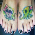 Lovey Octopus Feet Tattoos